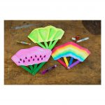 DIY Colorful Fans Project Materials Art Kit